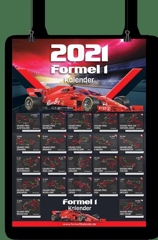 Startzeiten Formel1 Zeitplan Poster
